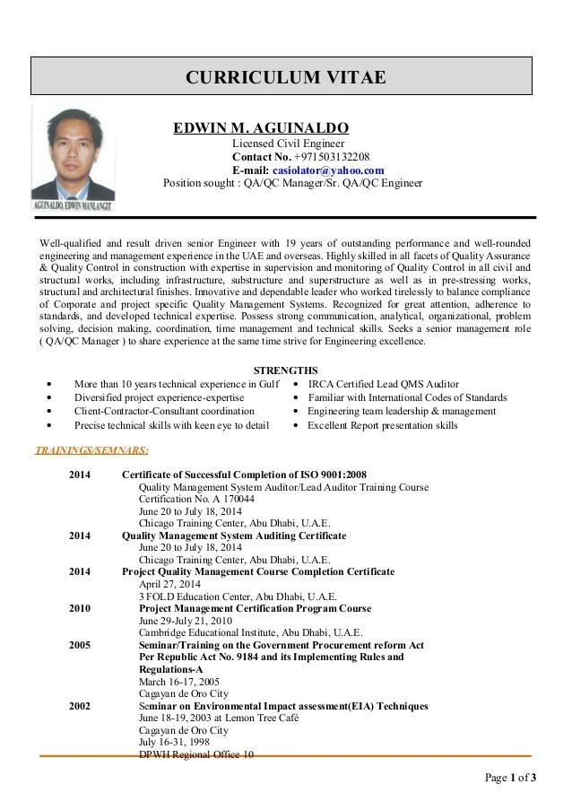 civil project manager resume sample