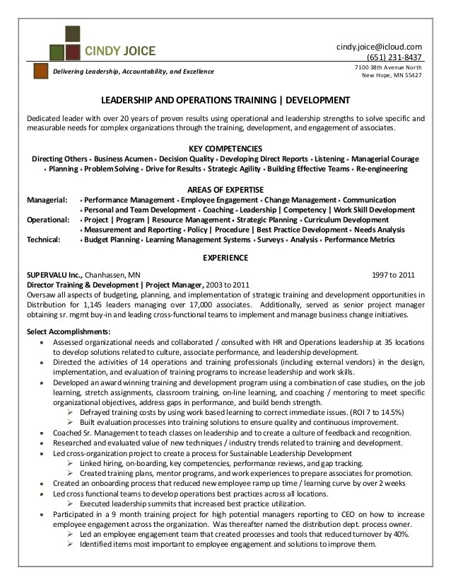 Coach Resume Example Sample Leadership Development Program Leadership Development