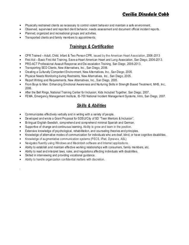 Recreation Specialist Sample Resume Professional Therapeutic - therapeutic recreation specialist sample resume