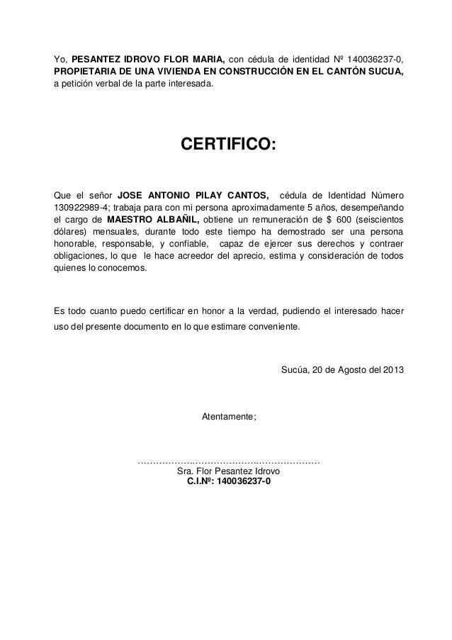 formato certificacion laboral word - Towerssconstruction