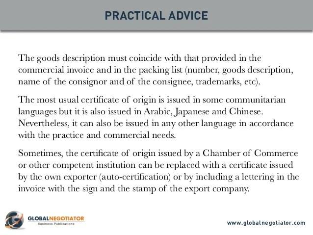 Doc.#801985: Blank Certificate Of Origin Form – Certificate Of