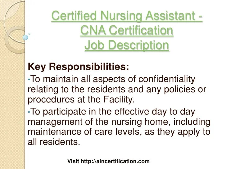 certified nursing assistant job description - Yelommyphonecompany