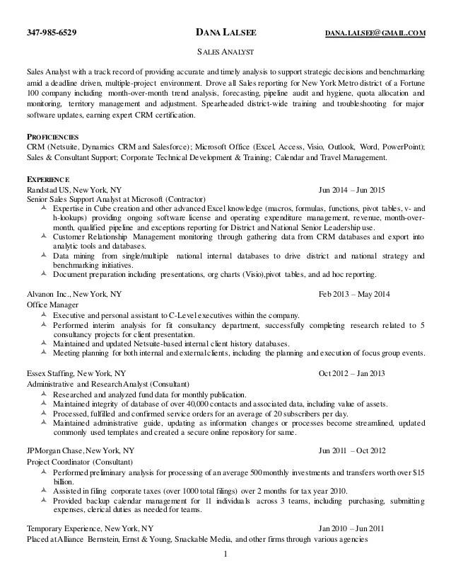 sales analyst - Baskanidai - Compensation Analyst Resume
