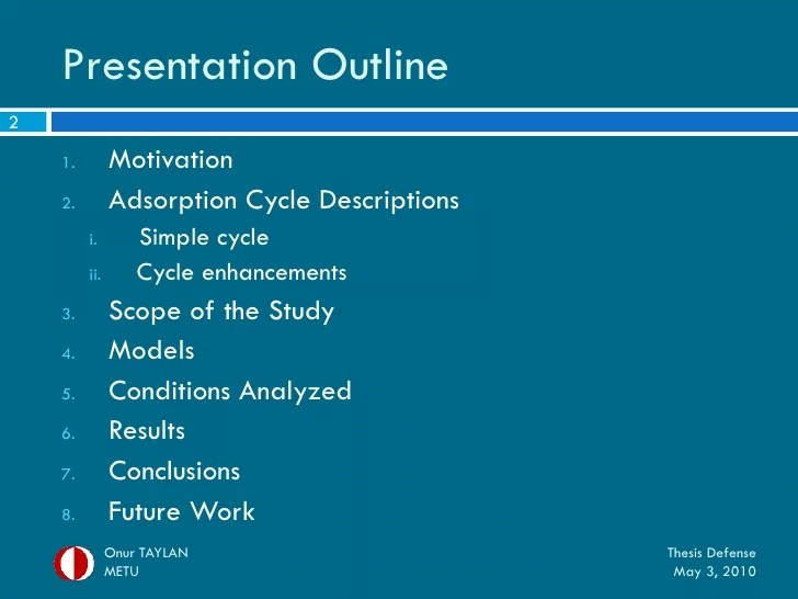 Mechanical Engineering Colleges Schools And Universities My Thesis Defense Presentation