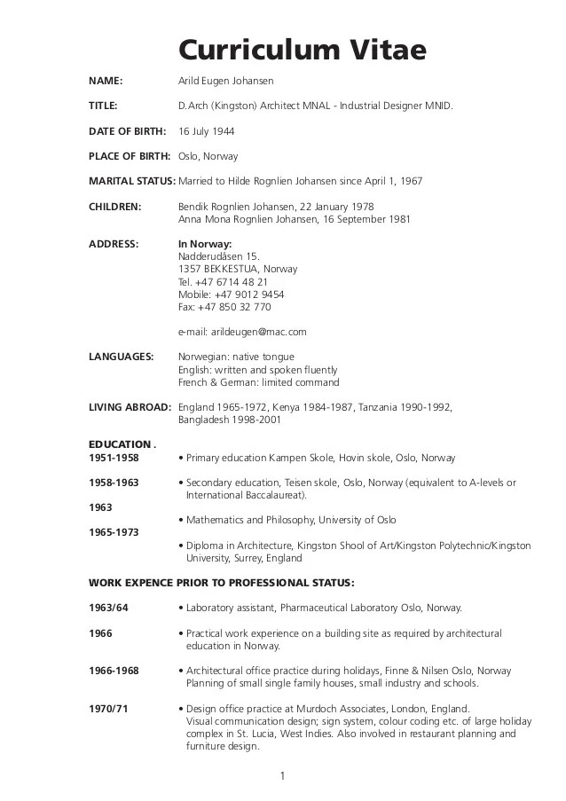 wordpress english cv