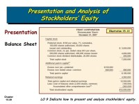Stockholders Equity