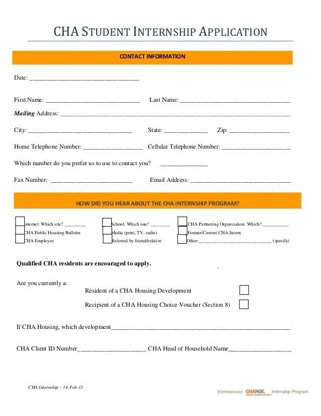 Internship Cover Letter Sample Resume Genius Cha Student Internship Program Application Summer 2013