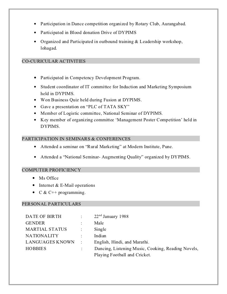 case competition organizing committee resume example