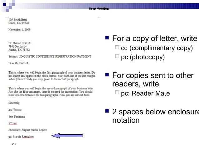 How To Identify Attachments Copies In Business Letters Business Communication Chap 2 Business Writing