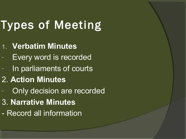 meeting minutes notes