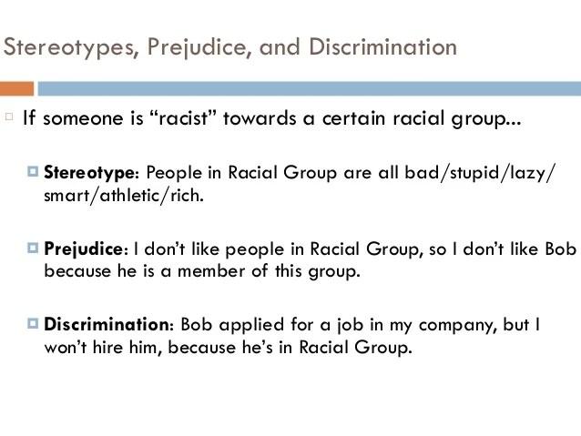 Stereotypes Prejudice Discrimination Psych 201