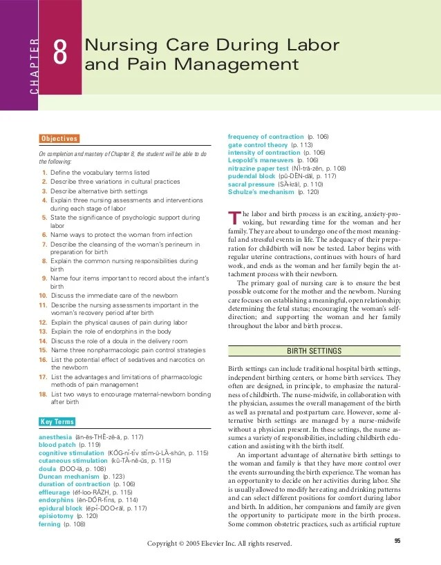 Case Study Collection Search Results National Center Chapter 8 Nursing Care During Labor And Pain Management