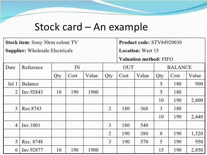 stock card template for inventory stock - Goalgoodwinmetals
