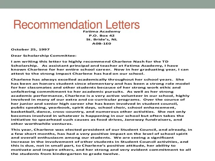 assistant principal letter of recommendation - Selol-ink