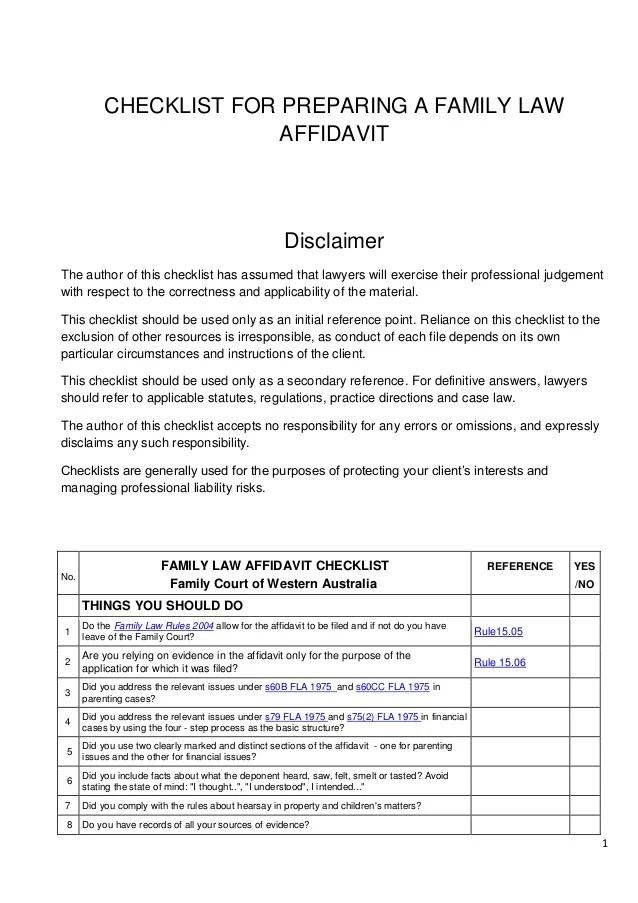 Affidavit Of Support Divorce – How to Write a Legal Affidavit