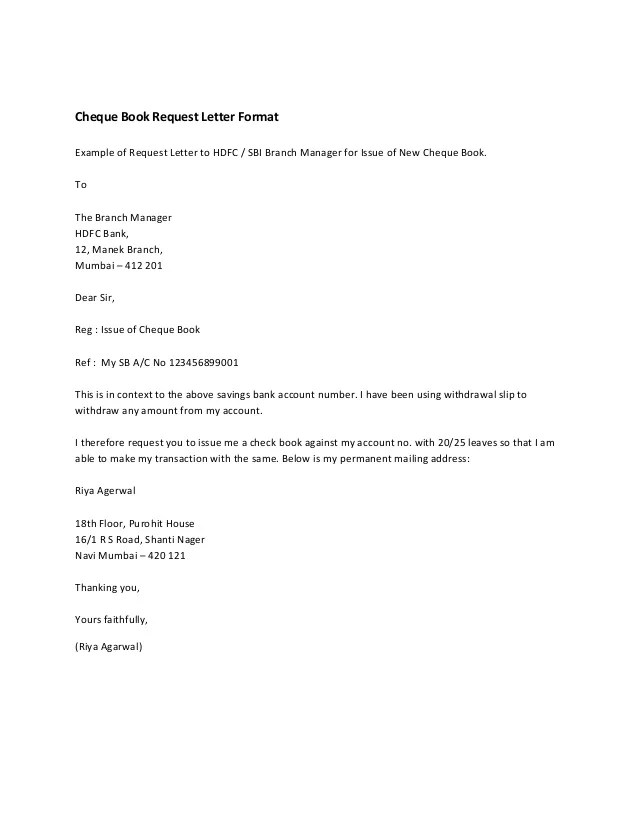 New letter format to bank manager for cheque book manager cheque to for bank letter format book bank request letter change mobile to number manager spiritdancerdesigns Images