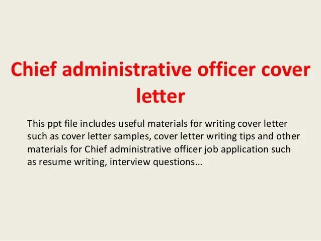 Top 5 Administration Officer Cover Letter Samples