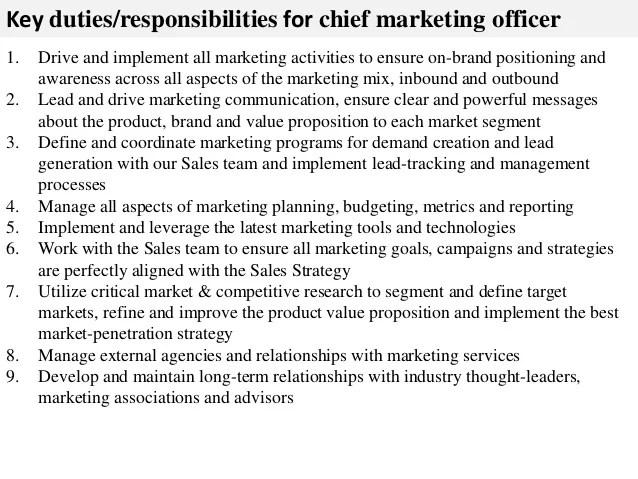 marketing officer job description - Josemulinohouse