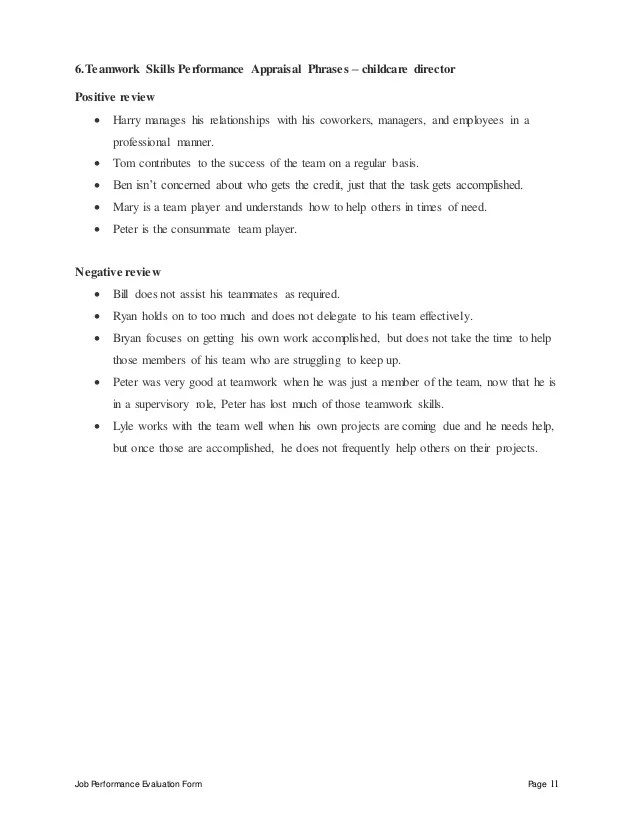 Professional Resume Writers Military Resume Writers Childcare Director Perfomance Appraisal 2