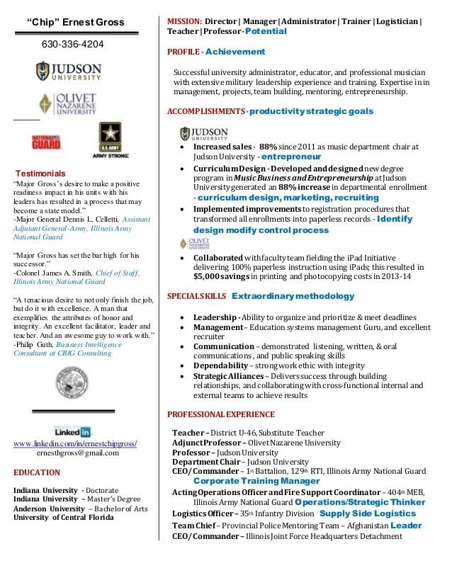 Top 10 Powerpoint Resume Presentations On Slideshare Ernest Quot;chipquot; Gross Guerrilla Resume