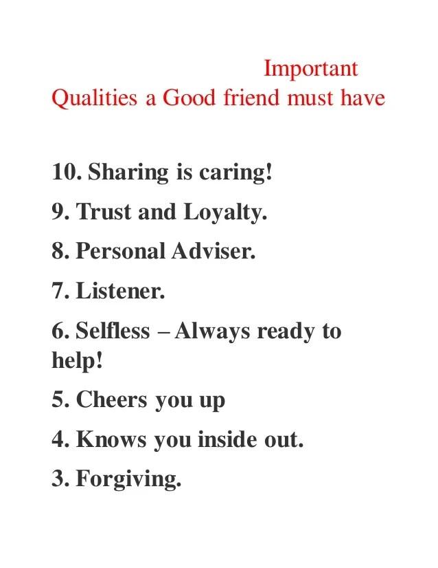 good personal qualities - Goalgoodwinmetals