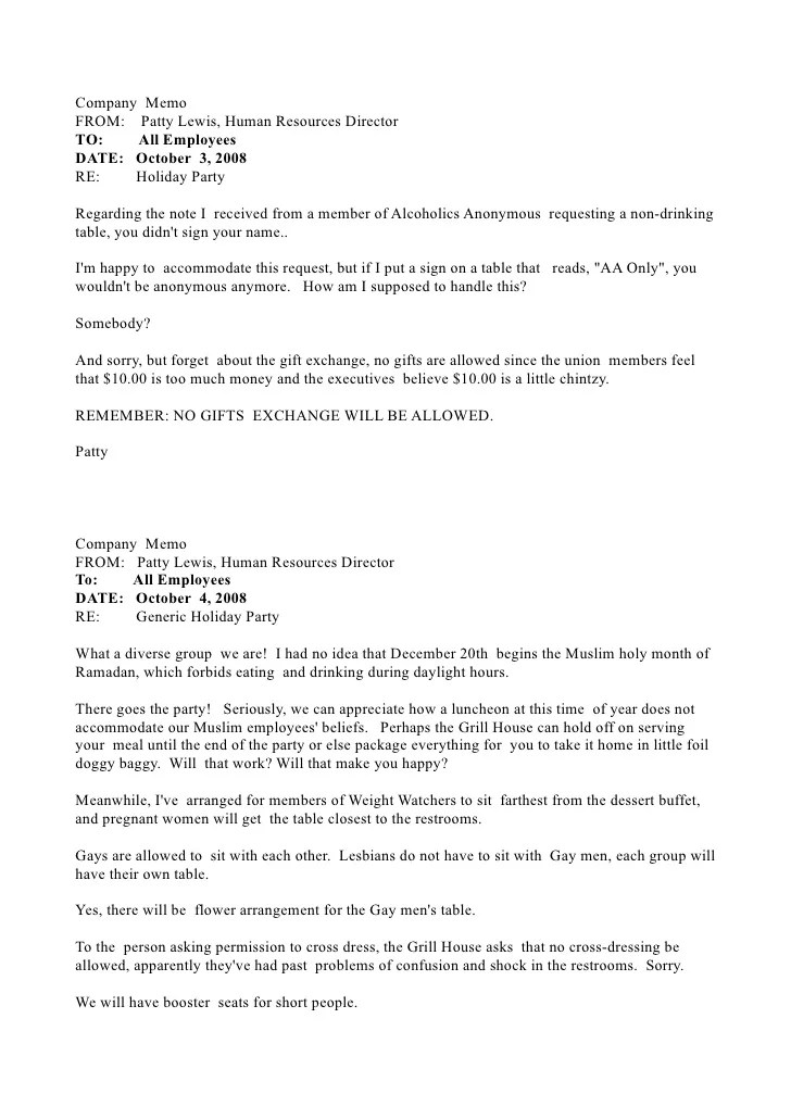 sample internal memo to employees - Intoanysearch