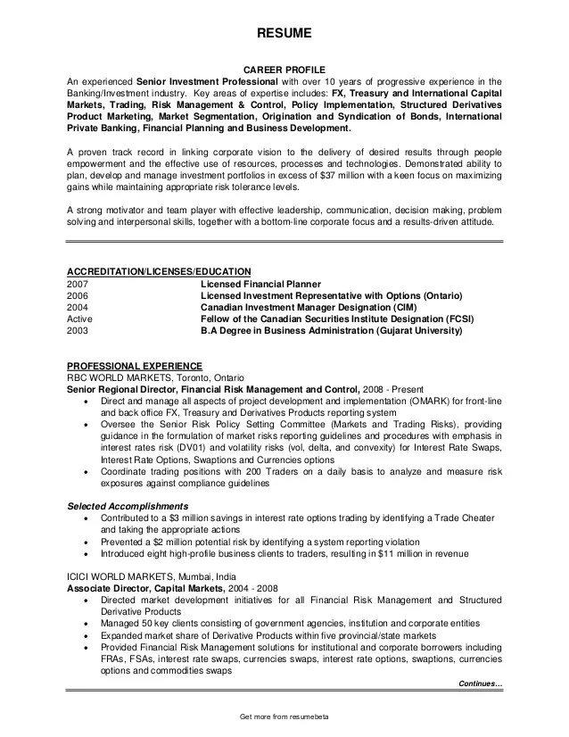 investment analyst resume - Jolivibramusic