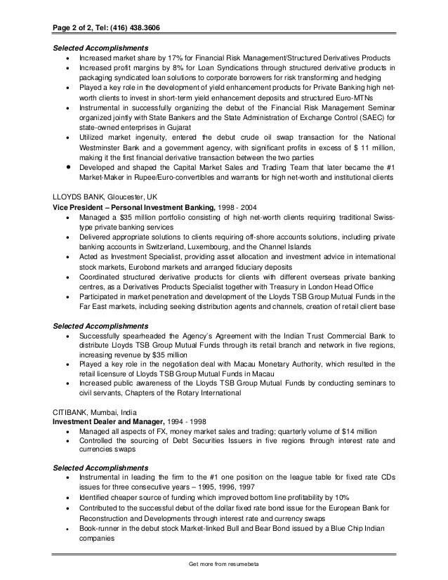 investment analyst resume - Onwebioinnovate - investment analyst sample resume