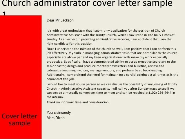 Sample Resume For The College Application Process Church Administrator Cover Letter
