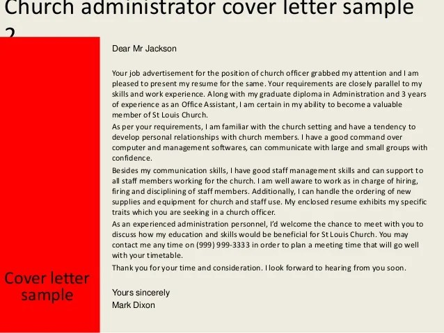 assistant cover letter jobhero church administrator cover letter