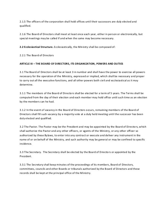 Baptist Church Bylaws Template new first baptist church - church bylaws template