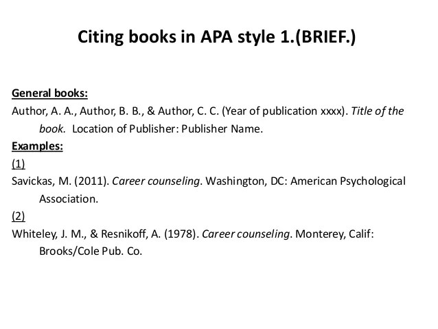 How To Reference A Book In In Apa Format Verywell Cite Articles Books In Apa Style Briefbw