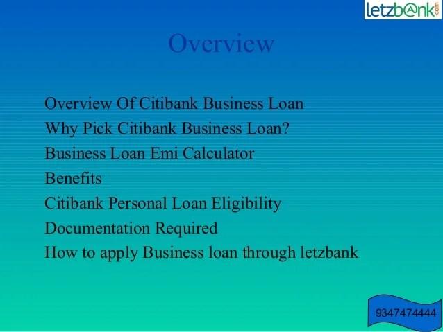 Citibank business loan