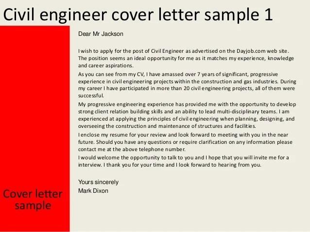 sample resume civil site engineer civil engineering cover letter - Civil Site Engineer Sample Resume