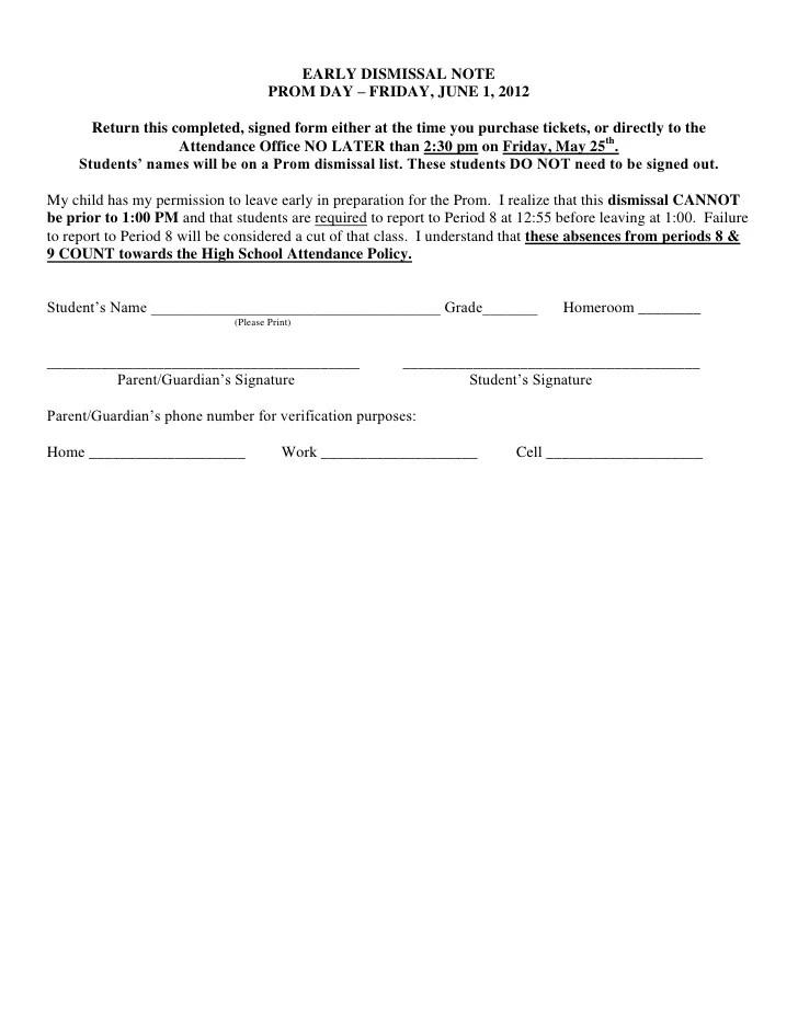 early dismissal letter for school - Ordekgreenfixenergy