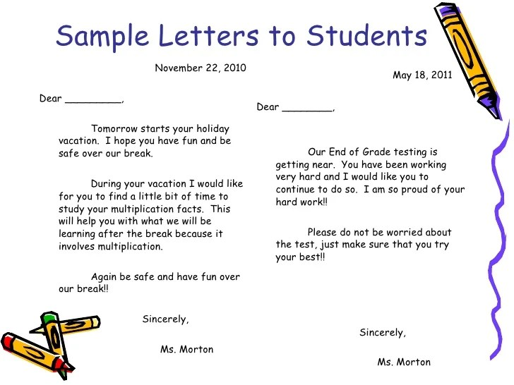 How To Write A Letter Of Encouragement To A Student Choice Image - encouragement letter template