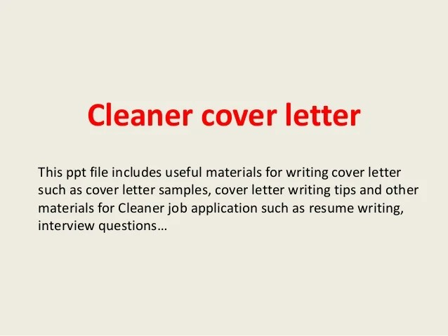 cover letter to cleaner sample resignation letter simple