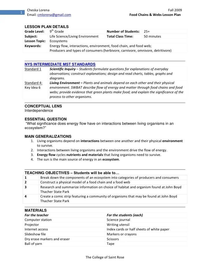 cover letter lesson plan