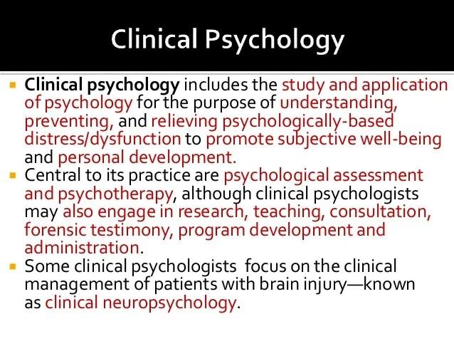 clinical psychology examples - Opucukkiessling