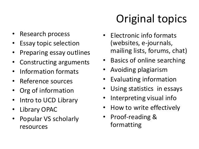 different essay formats