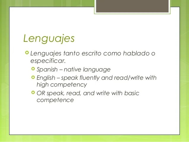 cv english native language professional resumes example online