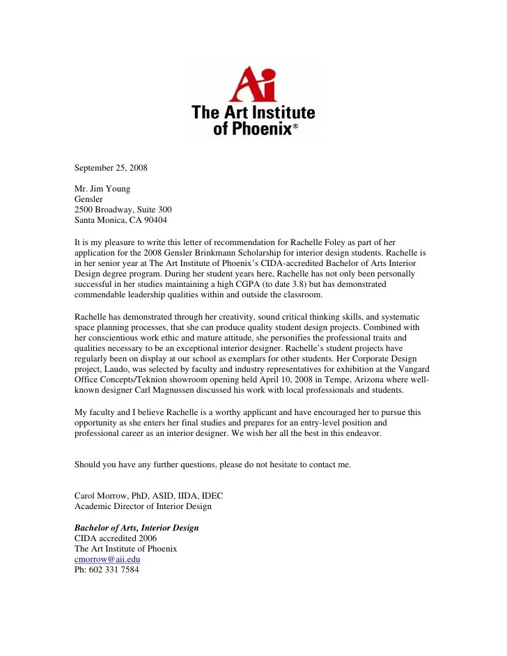 Reference Letter Example For Student Applying For Master Letter Of Recommendaton 9 25 08