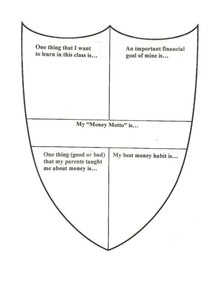 Printables Coat Of Arms Worksheet Mywcct Thousands of Printable - printable personal finance sheets