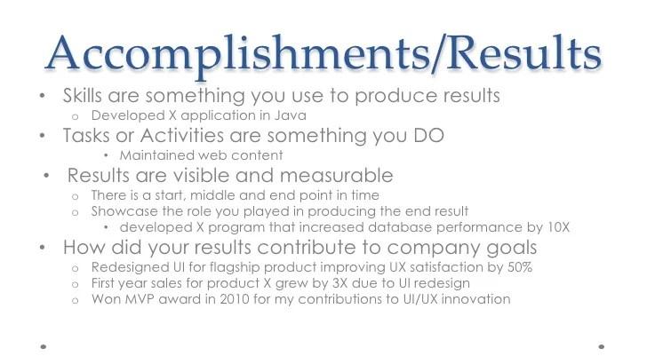 measurable accomplishments - Ozilalmanoof
