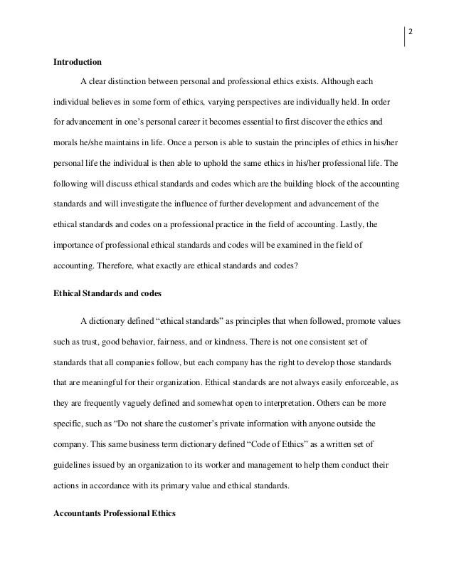 Essay On Personal Code Of Ethics Mistyhamel