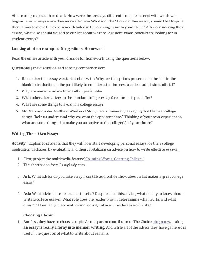 college essays topics - Baskanidai - college essays