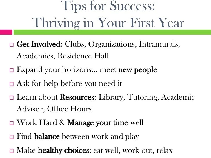 first year college tips - Josemulinohouse - college success tips
