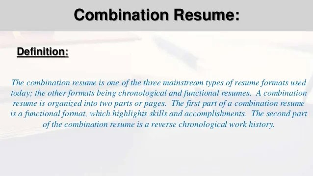 combination resume format - Minimfagency - resume combination format