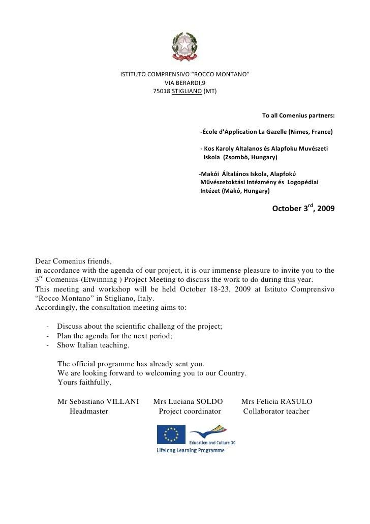 Sponsorship Letter Sample Format Writing Tips Comenius Letter Of Invitation Italy
