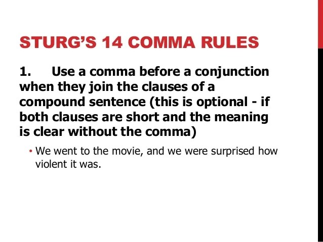 when do you use comma - Boatjeremyeaton - comma and and